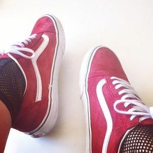Vans | Old Skool Red Suede Sneakers | Size 9